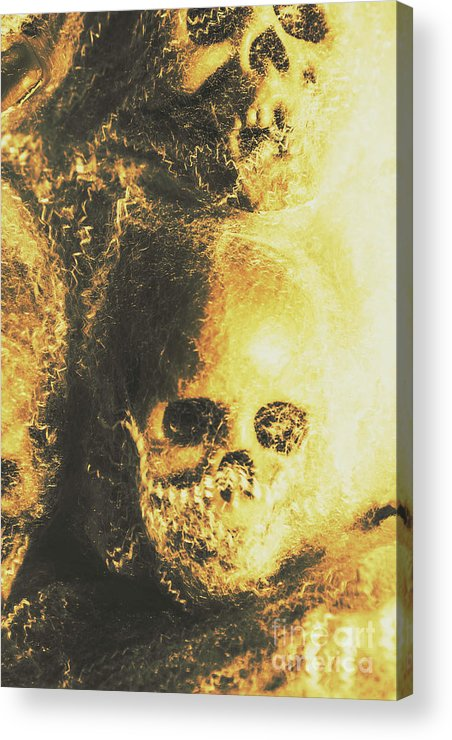 Skull Acrylic Print featuring the photograph Fear Of The Capture by Jorgo Photography - Wall Art Gallery