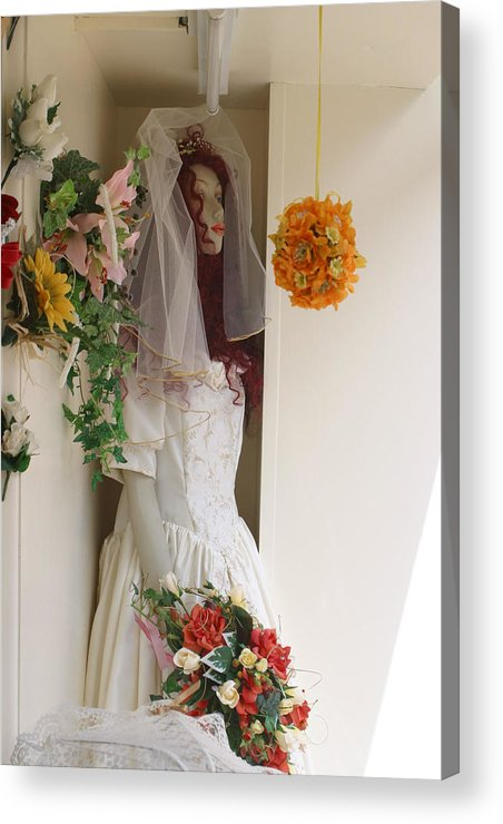 Jez C Self Acrylic Print featuring the photograph Fenland Bride by Jez C Self