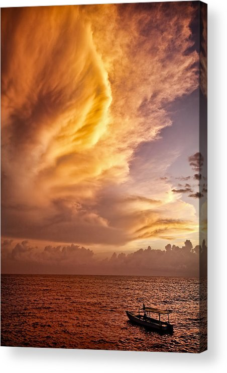 Jamaica Acrylic Print featuring the photograph Fire In The Sky by Dave Bowman