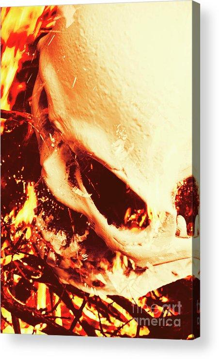 Blaze Acrylic Print featuring the photograph Fire Of Doom by Jorgo Photography - Wall Art Gallery