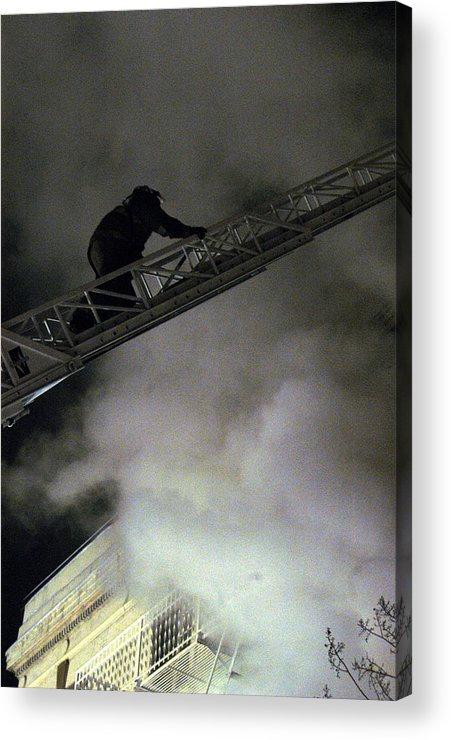 Fireman Acrylic Print featuring the photograph Fireman Washington Dc by Thomas Michael Corcoran