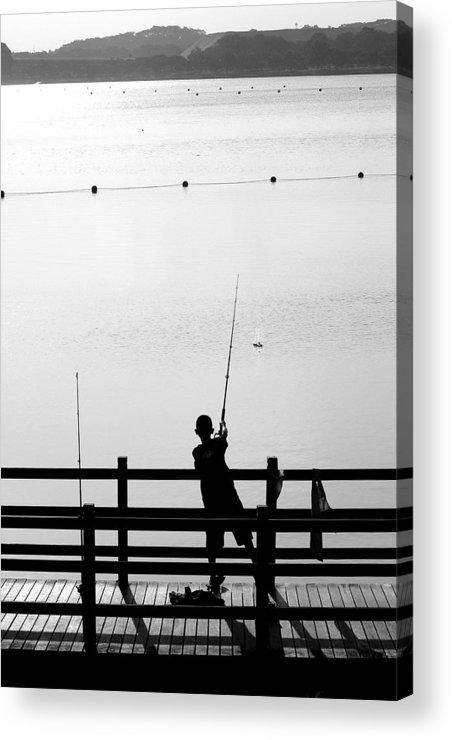 Activity Acrylic Print featuring the photograph Fishing Boy by Mark Mah