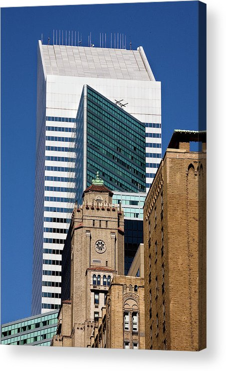 City Acrylic Print featuring the photograph Five Building New York by Xavier Cardell