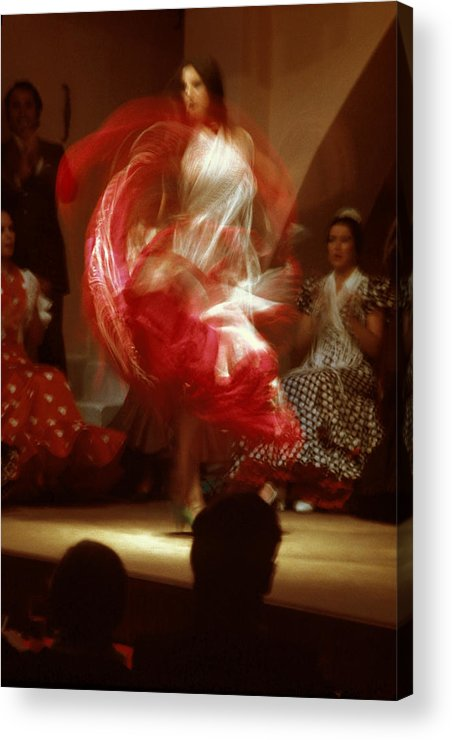 Spain Acrylic Print featuring the photograph Flamenco Dancer In Seville by Carl Purcell