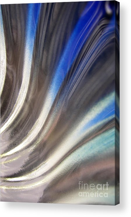 Blue Acrylic Print featuring the photograph Fluted Blue by Elizabeth McPhee