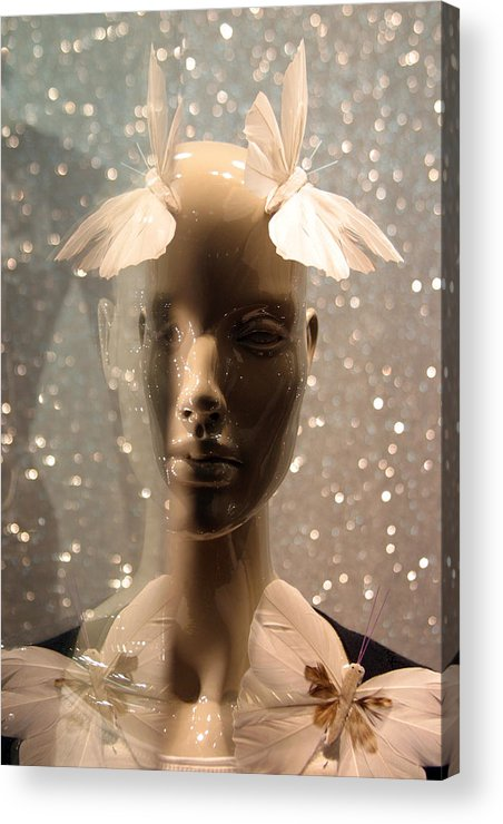 Jez C Self Acrylic Print featuring the photograph Fly Away Hair by Jez C Self