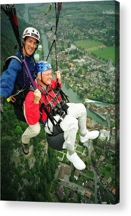 Adventure Acrylic Print featuring the photograph Flying Over Interlaken by Carl Purcell