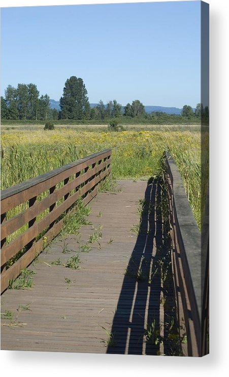 Foot Acrylic Print featuring the photograph Foot Bridge by Sara Stevenson