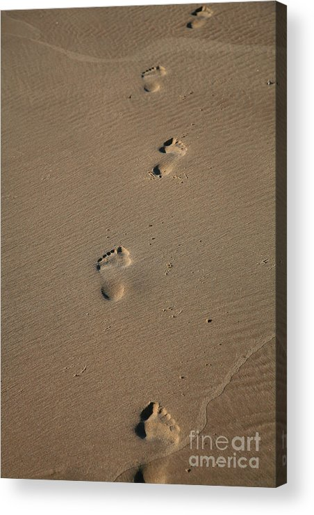 Footprints Acrylic Print featuring the photograph Footprints by Timothy Johnson