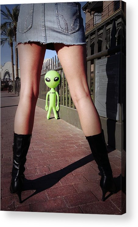 Alien Acrylic Print featuring the photograph For Alien Eyes Only by Richard Henne