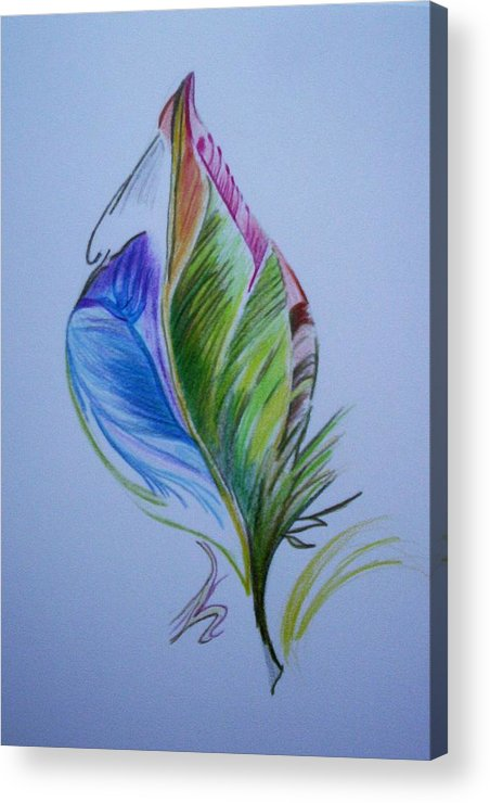 Abstract Acrylic Print featuring the drawing For Starters by Suzanne Udell Levinger