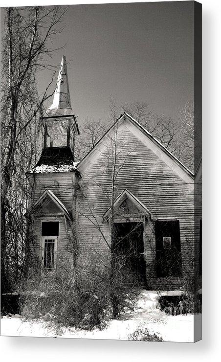 Church Acrylic Print featuring the photograph Forsaken by Debra Straub