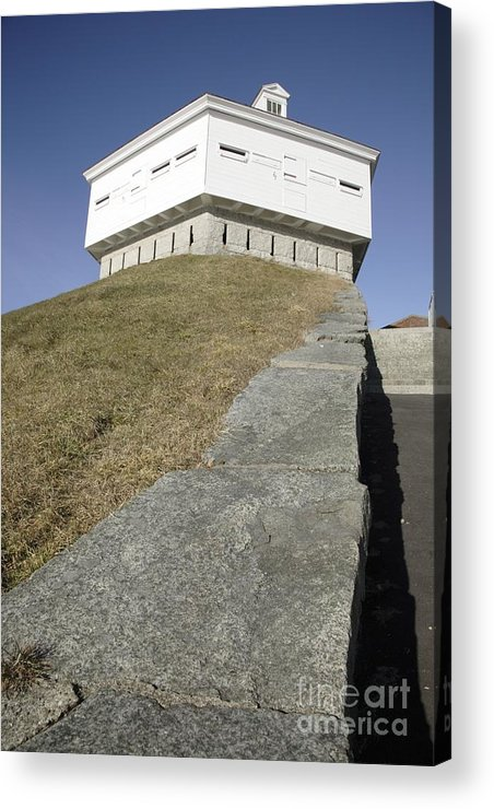 Atlantic Ocean Acrylic Print featuring the photograph Fort Mcclary - Kittery Maine Usa by Erin Paul Donovan