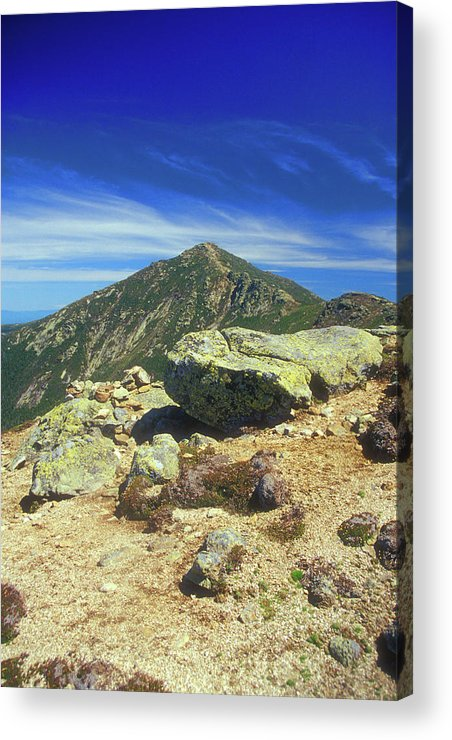 New Hampshire Acrylic Print featuring the photograph Franconia Ridge And Mount Lafayette Alpine by John Burk