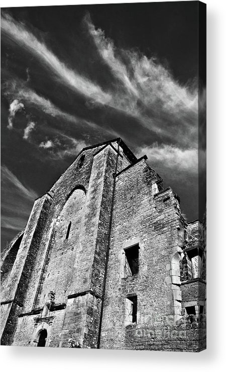 French Middle Age Kisses The Dark Sky Acrylic Print featuring the photograph French Middle Age Kisses The Dark Sky by Silva Wischeropp