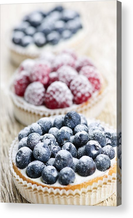 Fruit Acrylic Print featuring the photograph Fresh Berry Tarts by Elena Elisseeva