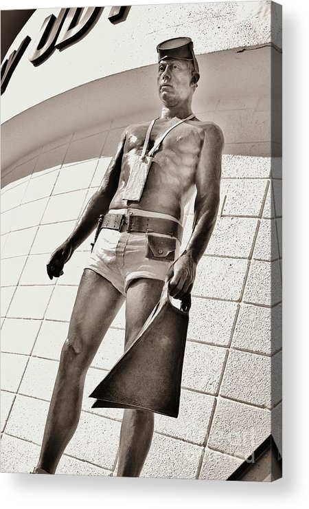 Frogman Acrylic Print featuring the photograph Frogman Statue by Lynda Dawson-Youngclaus