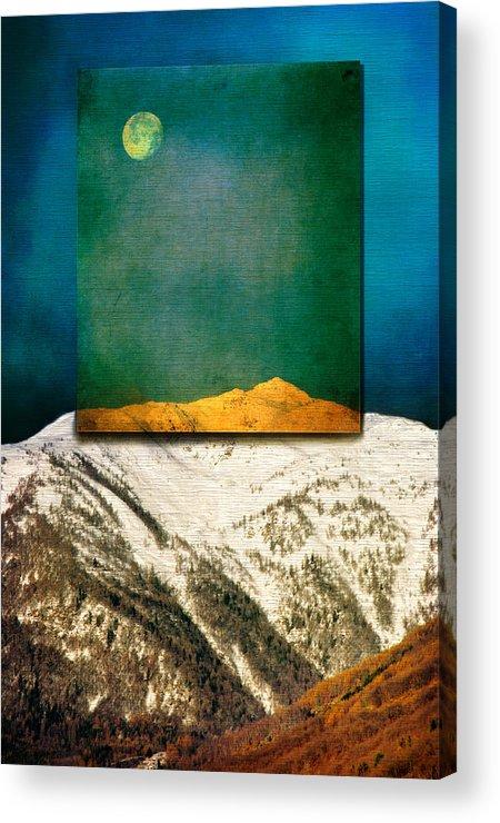 Moon Acrylic Print featuring the photograph Full Moon by Silvia Ganora