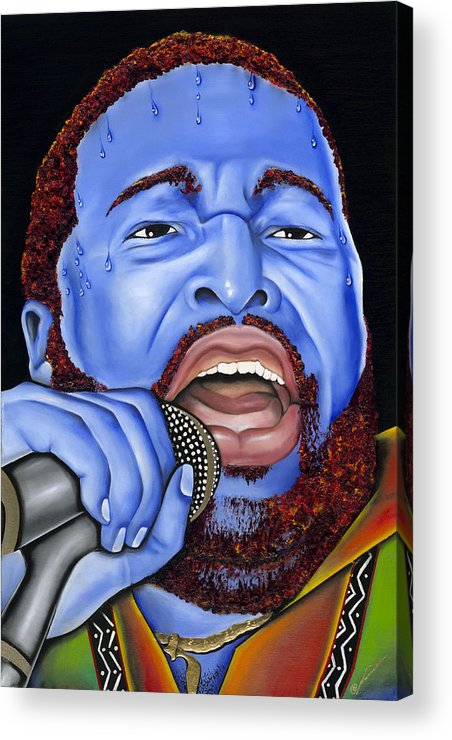 Portrait Acrylic Print featuring the painting G. Levert by Nannette Harris