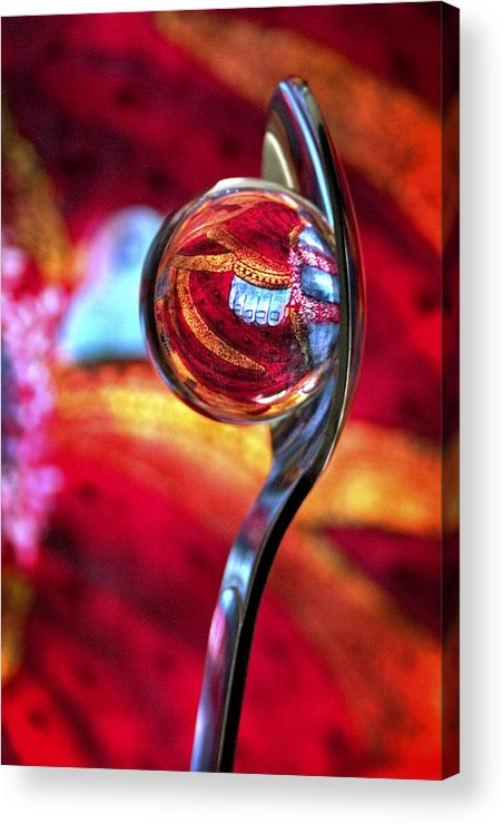 Ball Acrylic Print featuring the photograph Ganesh Spoon by Skip Hunt