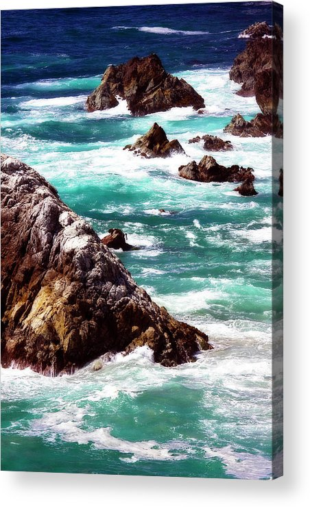 Blue Acrylic Print featuring the photograph Garrapata Highlands 6 by Alan Hausenflock