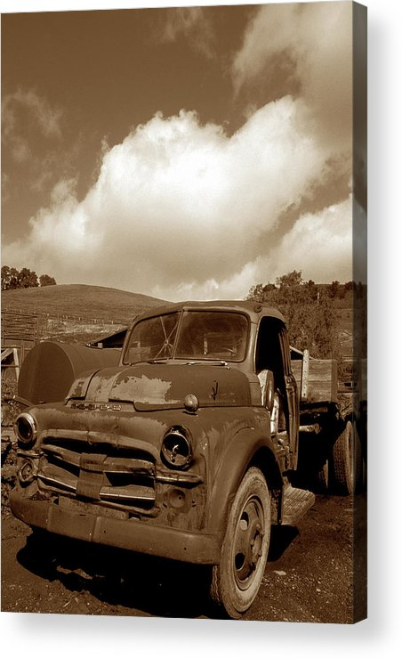 Old Trucks Acrylic Print featuring the photograph Garrod's Old Truck 2 by Kathy Yates