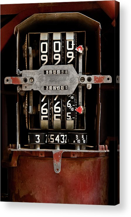 Machine Acrylic Print featuring the photograph Gas Pump Meter by Murray Bloom