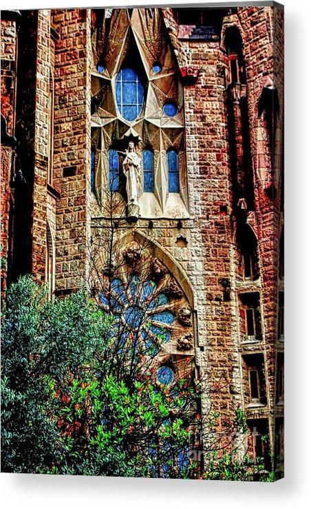 La Sagrada Famila Acrylic Print featuring the photograph Gaudi Barcelona by Tom Prendergast