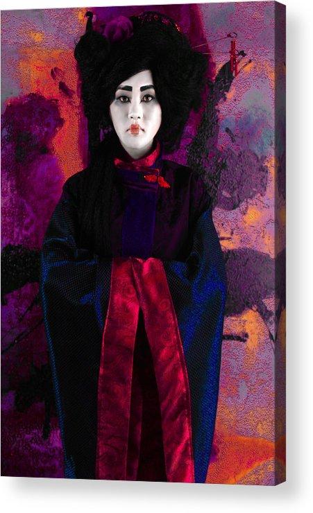 Japan Acrylic Print featuring the photograph Geisha 5 - Geisha Series by Jeff Burgess