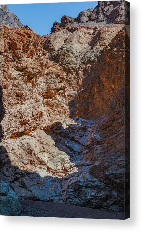 Death Valley Ca Acrylic Print featuring the photograph Golden Canyon Side Trail Death Valley Ca by Michael Bessler