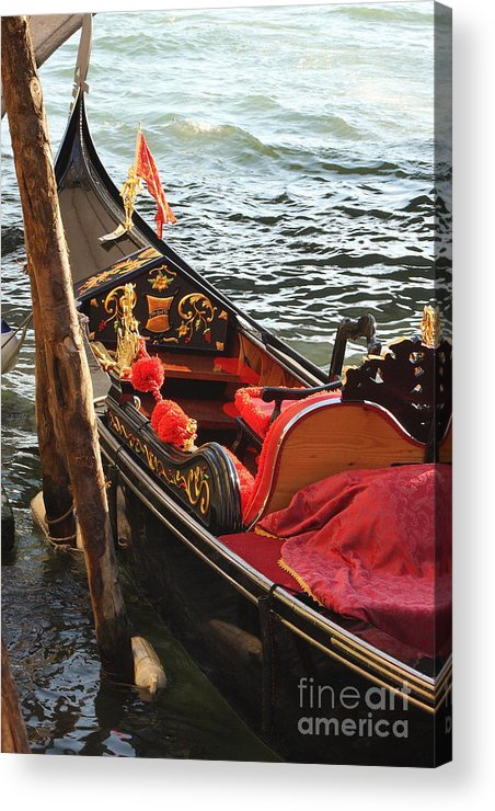 Venice Acrylic Print featuring the photograph Gondola In Venice by Michael Henderson