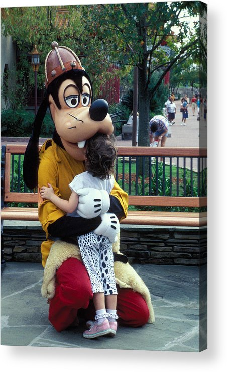 Disney Acrylic Print featuring the photograph Goofy Love by Carl Purcell