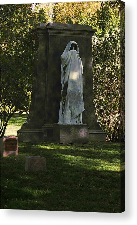 Graveyard Acrylic Print featuring the photograph Graceland Chicago - The Place Where The Spirits Roam by Christine Till