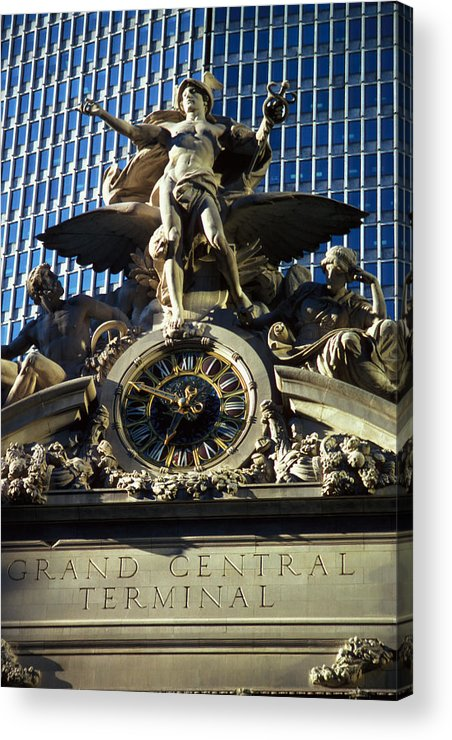 Train Acrylic Print featuring the photograph Grand Central Station by Carl Purcell