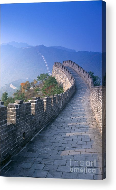 Asian Art Acrylic Print featuring the photograph Great Wall Of China by Gloria and Richard Maschmeyer - Printscapes
