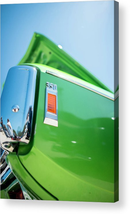 Acrylic Print featuring the photograph Green Machine by Michael Rivera