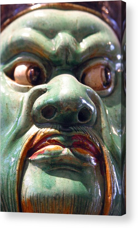 Jez C Self Acrylic Print featuring the photograph Green Meanie by Jez C Self