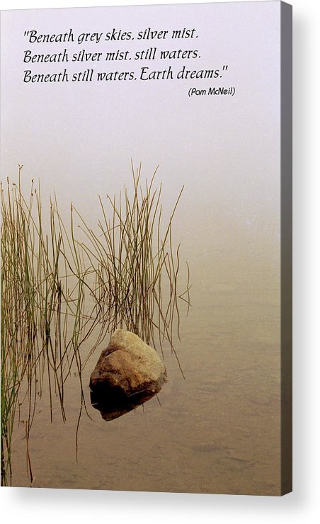 Fog Acrylic Print featuring the photograph Haiku Poster by Roger Soule