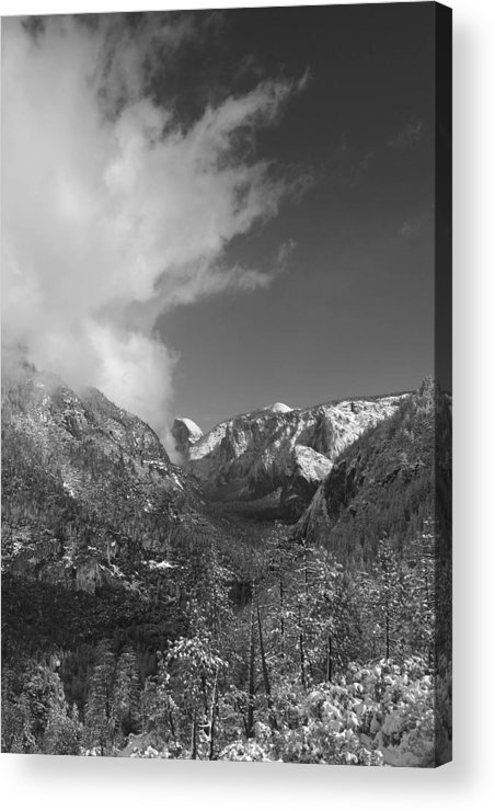 Half Dome Acrylic Print featuring the photograph Half Dome Winter by Travis Day
