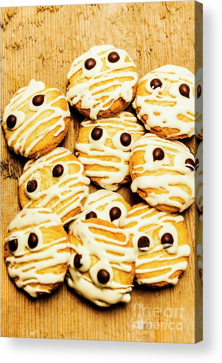 Scared Acrylic Print featuring the photograph Halloween Baking Treats by Jorgo Photography - Wall Art Gallery