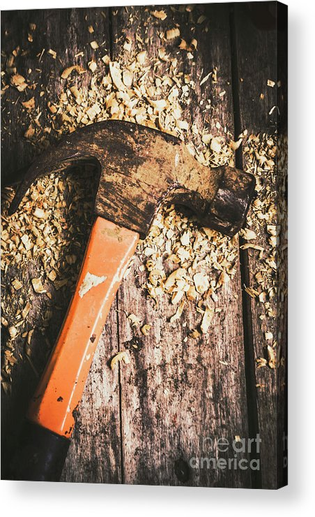 Carpentry Acrylic Print featuring the photograph Hammer Details In Carpentry by Jorgo Photography - Wall Art Gallery
