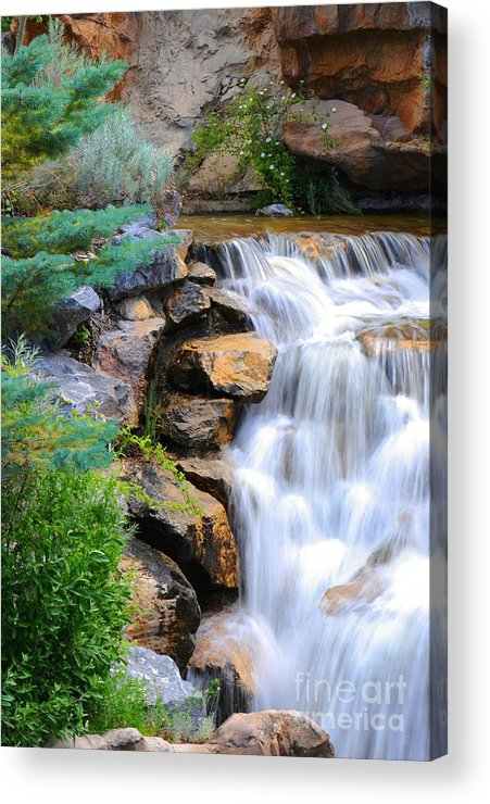 Waterfall Acrylic Print featuring the photograph Hammer's Cascade by Dennis Hammer