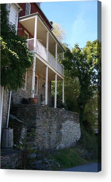 Home Acrylic Print featuring the photograph Harpers Ferry Home by Rebecca Smith