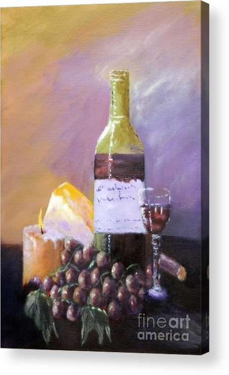 Still Life Acrylic Print featuring the painting Harvest by Annette Tan