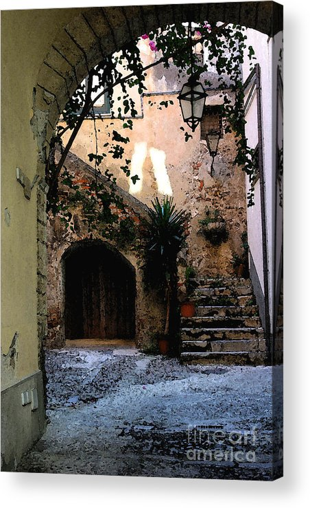 Warm House Entrance. Acrylic Print featuring the photograph Hide Away by Dennis Curry