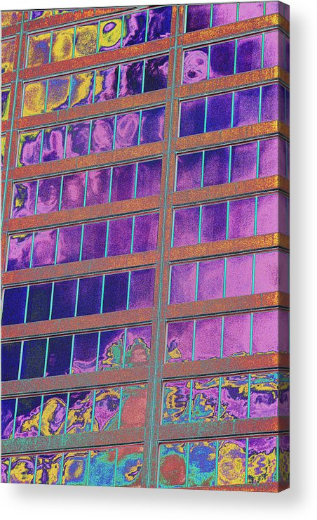 Psychedelic Acrylic Print featuring the photograph High Roller Suites At The Flamingo Hotel by Richard Henne