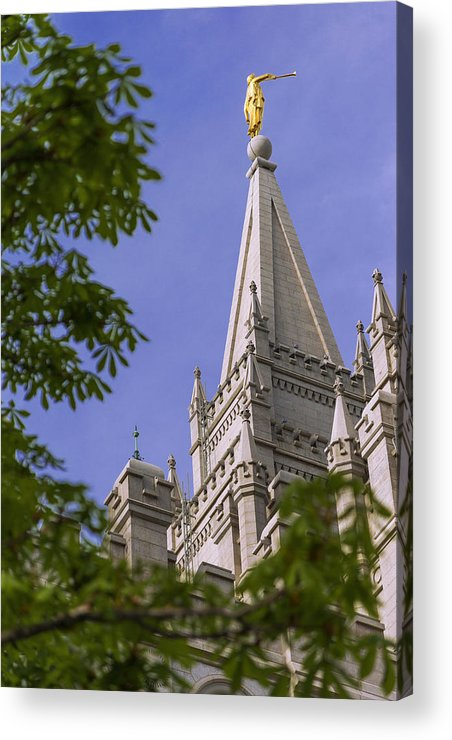 Mormon Acrylic Print featuring the photograph Holy Temple by Chad Dutson