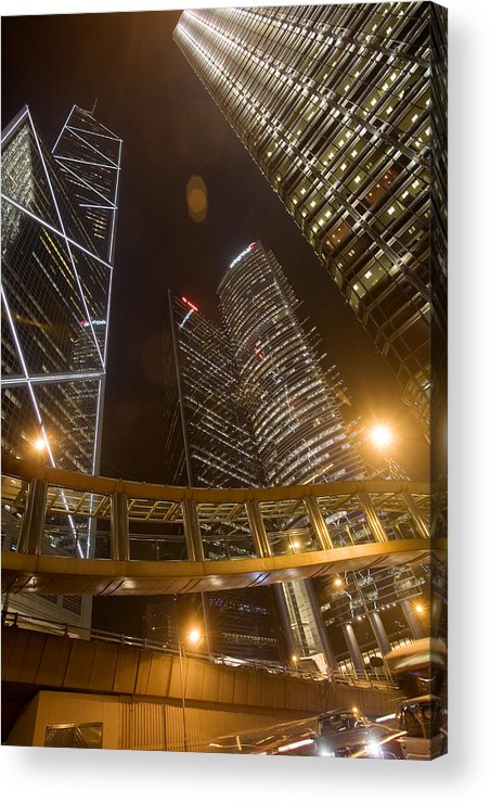 City Acrylic Print featuring the photograph Hong Kong Steel Buildings by Brad Rickerby