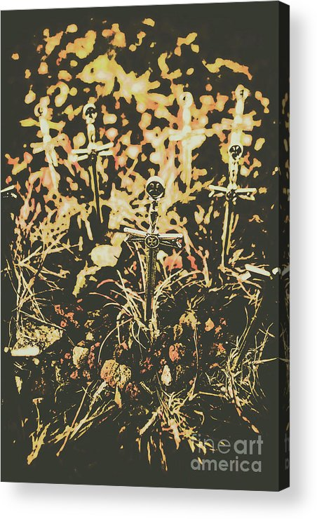 Cemetery Acrylic Print featuring the photograph Honor Of The Fallen by Jorgo Photography - Wall Art Gallery