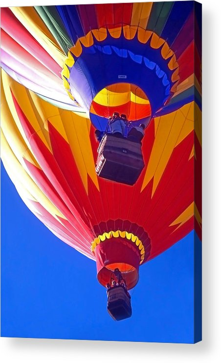 Hot Air Balloons; Balloons Acrylic Print featuring the photograph Hot Air Balloons by Steve Ohlsen